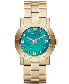 Marc by Marc Jacobs Women's Amy Gold-Tone Stainless Steel Bracelet Watch 36mm MBM8624 - First at Macy's! - Women's Watches - Jewelry & Watch...