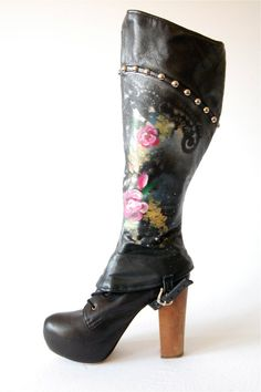Conchairto upcycled leather spats by Haus of Mirth