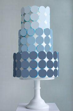 blue ombre wedding cake  more inspiration @ http://www.ModernRani.com