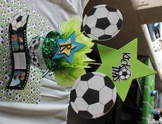 soccer center piece