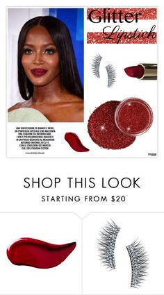 """""""So Sparkly: Glitter Lips"""" by marion-fashionista-diva-miller ❤ liked on Polyvore featuring beauty, Kat Von D, Kre-at Beauty and glitterlips"""
