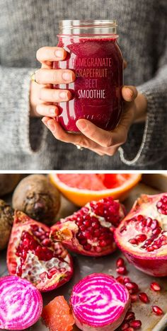 Pomegranate, Grapefruit, Beet Smoothie: This stunning smoothie is bound to get you compliments. Fresh pomegranate, beet, and pink grapefruit mingle with Vega One Natural flavor for a tart seasonal smoothie.