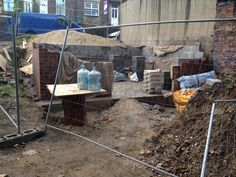 Walls going up civic multi brick to match local houses Go Up, Centre, Brick, Walls, Houses, Cleaning, Homes, Wands, Bricks