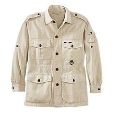 Men's Cotton Safari Jacket | National Geographic Store