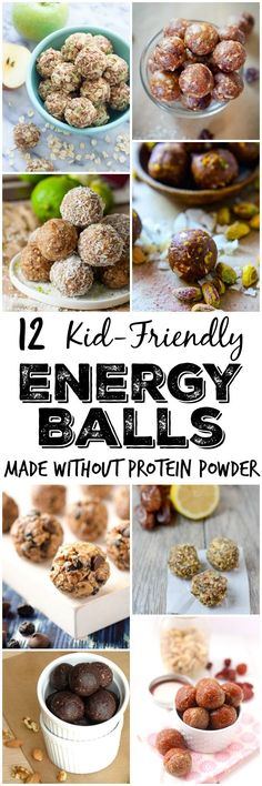 Looking for a quick, healthy snack made with real food ingredients? Here are 12 kid-friendly energy ball recipes made without protein powder.