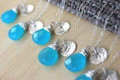 Set of six  STERLING SILVER initial necklace by BlueSunflowers, $154.00
