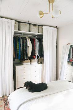 Open Wardrobe, Wardrobe Room, Diy Wardrobe, Closet Bedroom, Bedroom Storage, Dresser In Closet, Wardrobe Design, Wardrobe Ideas, Small Closet Space