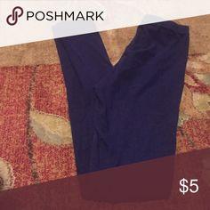 Blue leggings Tags cut off but size xs; great condition Pants Leggings