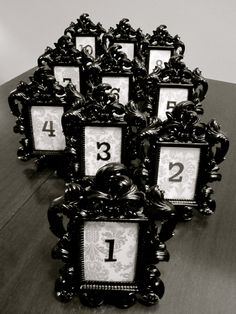 Black Baroque & Damask Wedding Table Number by TheGarrettGroup, $75.00