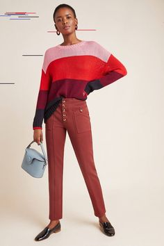 Bryson Tapered Pants Bryson Tapered Pants by Anthropologie in Orange Size: Women's Fleece Lined Flannel Shirt, Pants For Women, Jackets For Women, Women's Jackets, Middle Eastern Fashion, Parka Style, Mod Fashion, Sporty Fashion, Sporty Style
