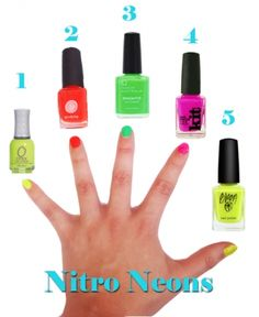 Neon nails, loving the perfect Summer mani