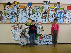 18 Ideas For Collaborative Art Projects For Kids Winter Christmas Art Projects, Winter Art Projects, Winter Crafts For Kids, Art For Kids, Collaborative Art Projects For Kids, Group Art Projects, School Art Projects, Class Projects, Classe D'art