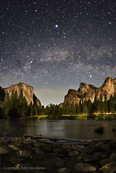 stars over Yosemite.   Look deep into nature, and then you will understand everything better. - Albert Einstein