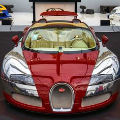Red on Chrome Bugatti Follow @List25 for a daily escape of fun, random and extreme facts @List25 Photo by @paul_skg