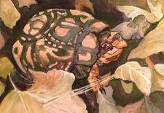 Bill Kassel Fine Art Studio: On my easel - Eastern Box Turtle - second pass