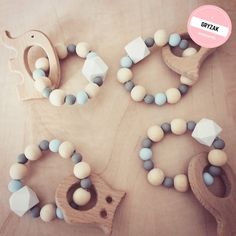 wood toy-baby teether