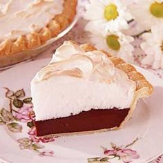 Grandma's Chocolate Meringue Pie....Excpet- it's gonna be MY Chocolate Meringue Pie, at Thanksgiving this year ;)