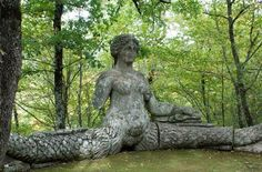Just one of the fantastical sculptures at Parco dei Mostri. Created by Vicino Orsini in the 16th century. All sculptures were carved on site. Located in Bomarzo, Italy.