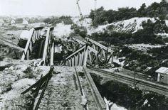 Oorlogsgeweld Dr. Calsstraat Schaesberg Doa, Railroad Tracks, Netherlands, The Nederlands, The Netherlands, Holland, Train Tracks