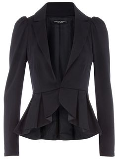 Navy peplum ponte jacket                                                                                                                                                                                 More