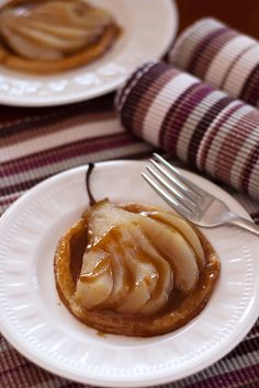 Toffee Pear Galettes~T~ Love the toffee sauce.