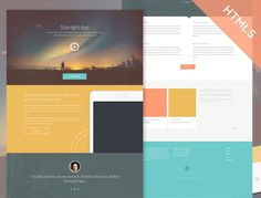 Starnight HTML5 Website Template is A beautifully designed clean layout called for some subtle animations and added features.