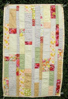 Flowery BABY QUILT hand quilted floral baby by CosyBabyQuilts, £60.00