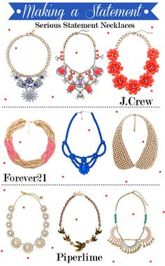 Statement Necklaces for Spring