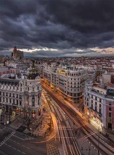 Gran Via, Madrid, Spain Places Around The World, Oh The Places You'll Go, Places To Travel, Places To Visit, Travel Local, Wonderful Places, Beautiful Places, Photograph Video, Spain And Portugal