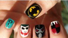 15 Great Batman Nail Art Designs for Kids - Pretty Designs Pretty Designs, Cute Nail Designs, Photomontage, Batman Nail Art, Superhero Nails, Cute Nails, Pretty Nails, Pinterest Cute, Nail Selection