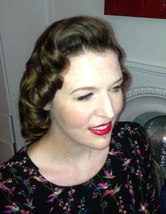 A recent customer Vintage Hair & make up Lipstick and Curls www.lipstickandcurls.net