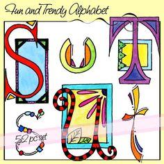 Fun And Trendy Alphabet