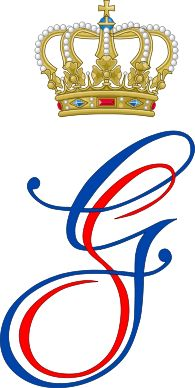 Dual Cypher of Prince Guillaume and Princess Stephanie of Luxembourg.