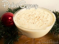 Literally the perfect eggnog! Alton Browns recipe! Sooo fluffy, rich, and creamy!   mine will be WITHOUT the Bourbon!!!!!