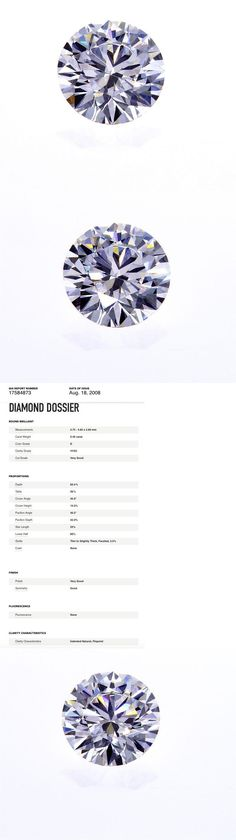 Natural Diamonds 3824: Gia Certified Natural Round Cut Loose Diamond 0.40 Ct D Color Vvs2 Very Good Cut -> BUY IT NOW ONLY: $1160 on eBay!
