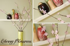 Budget genius! Stick pins and flower shaped confetti = paper cherry blossoms. These would make gorgeous, luxe-looking centerpieces for a spring themed wedding. Or any wedding. Real cherry blossoms are expensive, but these look the same for way cheap. In. Love.