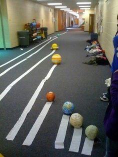 solar system distances example