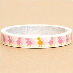 cute Deco Tape with pink ducks chicklets 1