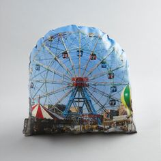 Wonder Wheel Printed Pillow by intheseam on Etsy, $55.00