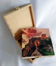 wood box with UV print !