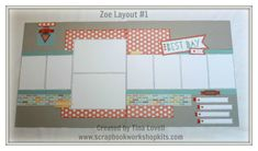 Scrapbooking Kits: Pre-Cut ZOE 6-Page Scrapbook Kits + Coral Shimmer Trim available NOW #ctmh #scrapbooking #scrapbookkits