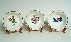 1995 Kellogg's Cereal Bowls Snap Crackle Pop, Toucan Sam, Corny Set of 3  #Kelloggs