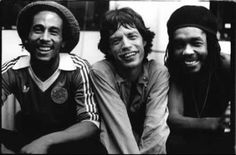Bob Marly, Mick Jagger & Peter Tosh