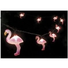 flamingo lights for the trailer! Tacky yet wonderful! yes please :)