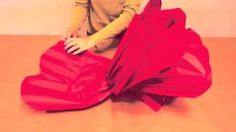 How to Make GIANT Tissue Paper Flowers, via YouTube.