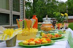 citrus theme yard party