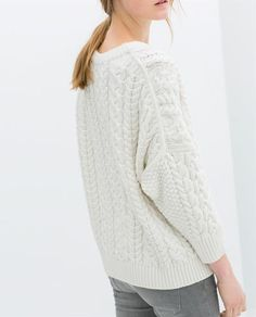 ZARA - NEW COLLECTION - BRAIDED SQUARE CUT SWEATER