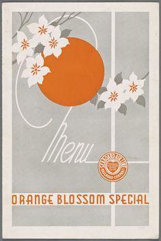Orange Blossom Special Menu, 1949