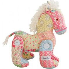 Alimrose Jointed Toy Pony Floral Patchwork. Great for nursery