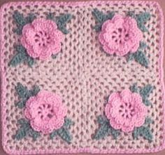 Irish rose square...Priscilla Hewitt pattern (2000)  ...if you pin this, please leave Priscilla Hewitt's name on your pin; she wants to be recognized for her copyrighted work; thank you!